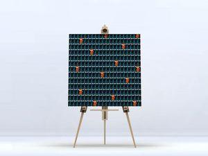 la Magie dans l'Image - toile foule de renards - Digital Wall Coverings
