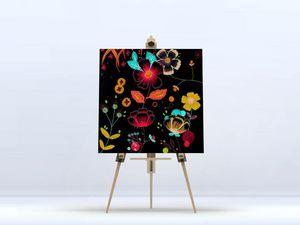 la Magie dans l'Image - toile happy flowers - Digital Wall Coverings