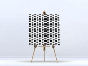 la Magie dans l'Image - toile lotus blanc noir - Digital Wall Coverings