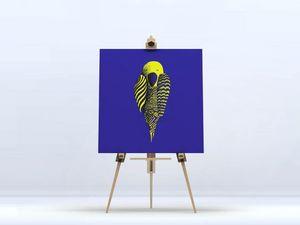 la Magie dans l'Image - toile perroquet bleu - Digital Wall Coverings