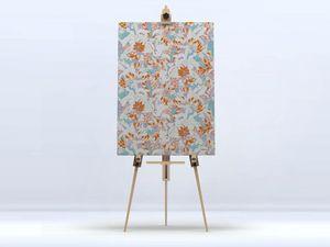 la Magie dans l'Image - toile tropical flowers nude - Digital Wall Coverings