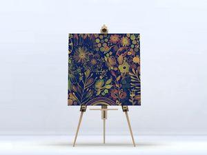 la Magie dans l'Image - toile végétal bleu - Digital Wall Coverings