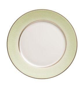 Jaune De Chrome - craqueé givre-- - Dessert Plate