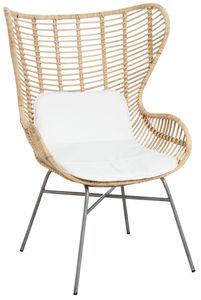 Aubry-Gaspard - fauteuil papillon en rotin naturel et métal - Armchair