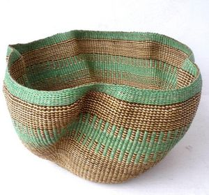 DESIGN AFRIKA - bolga wave neutral - Storage Basket