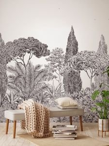 ISIDORE LEROY - riviera grisaille - Wallpaper