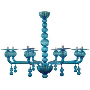 ALAN MIZRAHI LIGHTING - wm118 aquamarine murano - Candelabra