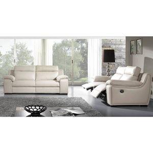UNIVERS DU CUIR -  - Recliner Sofa