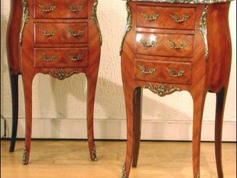 ANTIQUE GERMAIN - tables de chevet louis xv - Bedside Table