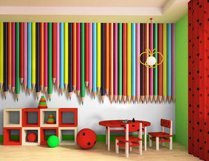 DECLIK - crayon - Children's Wallpaper