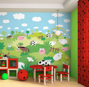 DECLIK - promenade bucolique - Children's Wallpaper