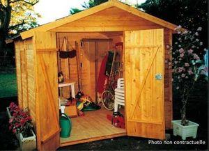 LES ABRIS MARTIN - abri plein soleil - Wood Garden Shed