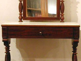 ANTIQUE GERMAIN - coiffeuse d'époque louis philippe en acajou de cu - Dressing Table