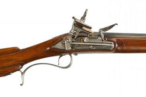 Peter Finer - a spanish miquelet-lock fowling piece, barrel by b - Carbine And Rifle