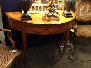 507 ANTIQUES -  - Half Moon Console Table