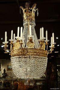 Galerie Atena - lustre corbeille empire - Chandelier