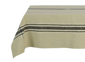 BELDEKO - nappe tom naturel et noir - Rectangular Tablecloth