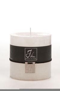 BELDEKO - bougie cylindre blanche - Round Candle