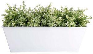 Esschert Design - jardinière en zinc blanc 40x15x15cm - Flower Box