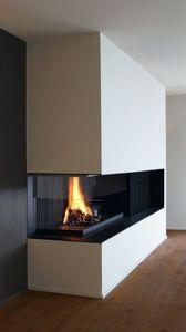 METALFIRE -  - Corner Fireplace With Door