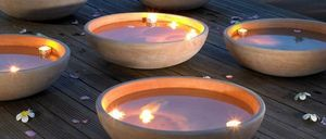 POTERIE GOICOECHEA -  - Outdoor Candle Holder