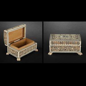 Expertissim - petit coffret en ivoire et bois. inde, xixe siècle - Jewellery Box