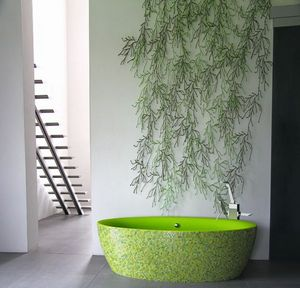 Aquadesign studio - dip mosaïque - Freestanding Bathtub