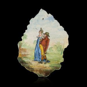 Expertissim - plaque de lave émaillée d'auvergne au motif d'un - Vintage Poster