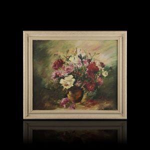 Expertissim - ecole du xxe siècle. le vase de roses, 1947 - Decorative Painting