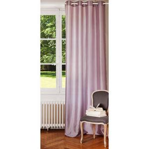 Maisons du monde - rideau satiné lilas - Eyelet Curtain