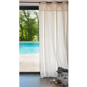 Maisons du monde - rideaux la baule rayé - Eyelet Curtain