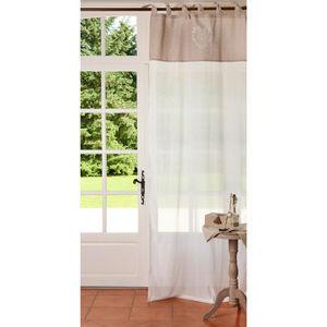 Maisons du monde - rideau voile imprimé camille - Knotted Curtain