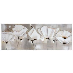 Maisons du monde - toile white flowers - Decorative Painting