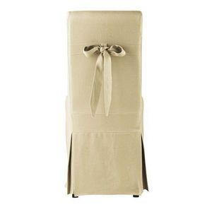 MAISONS DU MONDE - housse de chaise noud lin margaux - Loose Chair Cover