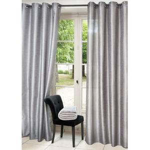 Maisons du monde - rideau lido gris - Eyelet Curtain