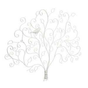 Maisons du monde - pince photo arbre oiseau blanc - Picture Holder
