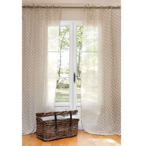 MAISONS DU MONDE - rideau lin beige pois - Lace Curtain