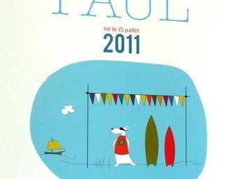 ICI LA TERRE - affiche prénom garçon guéthary - Children's Picture