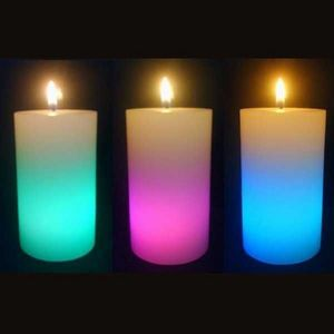 SUNCHINE - 3 bougies en cire eclairage led - Outdoor Candle