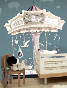 TRES TINTAS - carousel of dreams - Children's Wallpaper