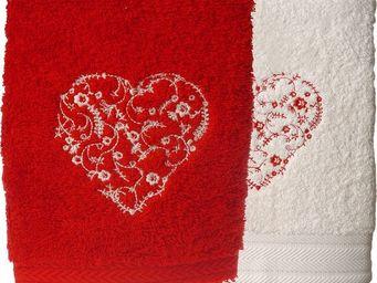 SIRETEX - SENSEI - serviette invité 30x50cm brodée megeve 550gr/m² co - Guest Towel