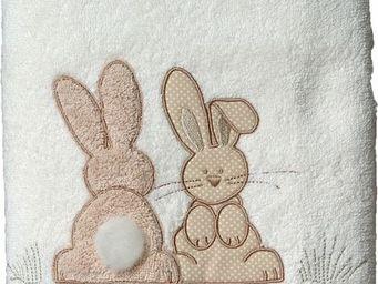 SIRETEX - SENSEI - drap douche 70x140cm pompon le lapin - Children's Bath Towel