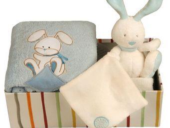 SIRETEX - SENSEI - coffret doudou lapin ciel - Newborn Gift Box