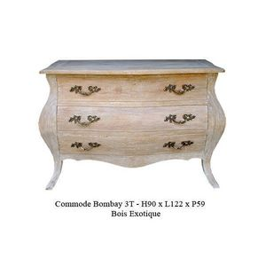 DECO PRIVE - commode en bois ceruse modele bombay - Chest Of Drawers