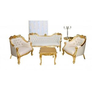 DECO PRIVE - canape ensemble canape baroque et deco assortie - Living Room