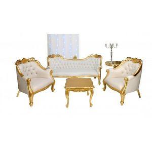 DECO PRIVE - canape ensemble canape baroque et deco assortie - Living Room