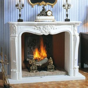 Jean Magnan Cheminees - la louis xv - Open Fireplace