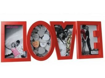 Present Time - cadre photo love rouge - Photo Frame