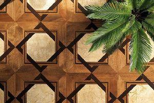 PARQUET IN - walmut wengé grey marble - Wooden Floor