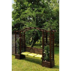 JARDIPOLYS - pergola banc florence en pin jardipolys - Arbour Seat